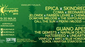 Ursynalia 2015 Line-up Monster Energy Stage (Main Stage)
