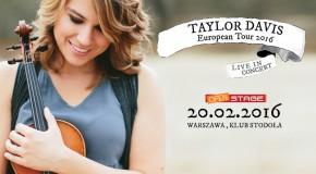 Niezwykle utalentowana skrzypaczka Taylor Davis już w sobotę zagra w Warszawie